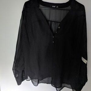 A.n.a. sheer black top